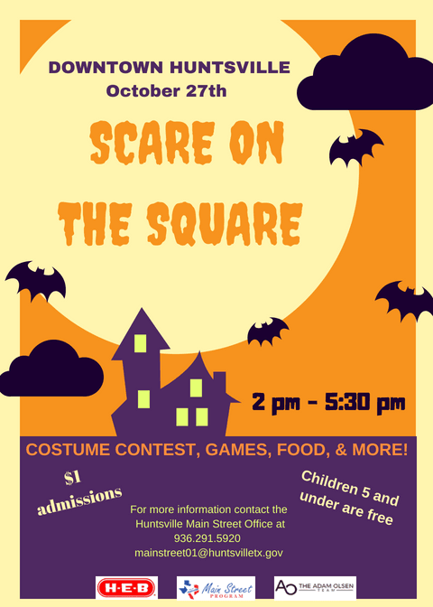 Scare On The Square Flyer