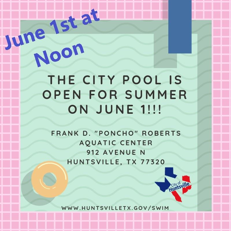 Pool open 6-1 at noon