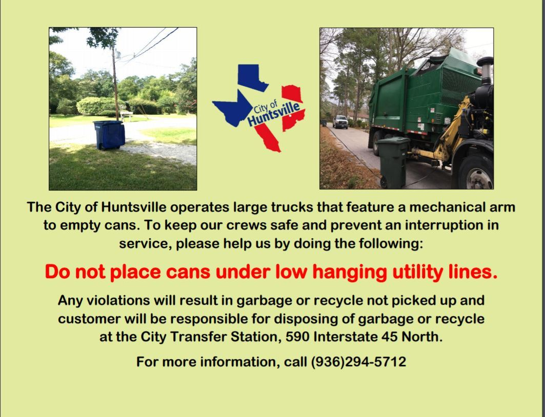 Low hanging utility lines flyer