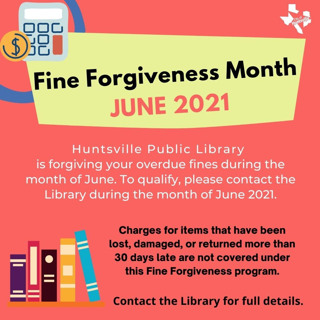 Fine Forgiveness Month June 2021
