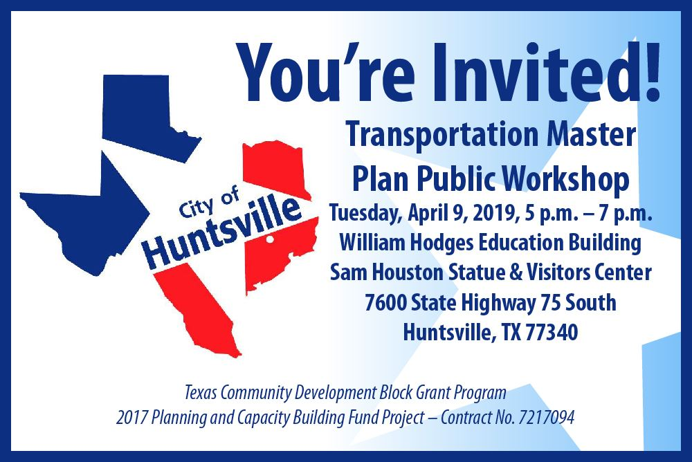 Transportation Master Plan workshop and open house 4-9-19